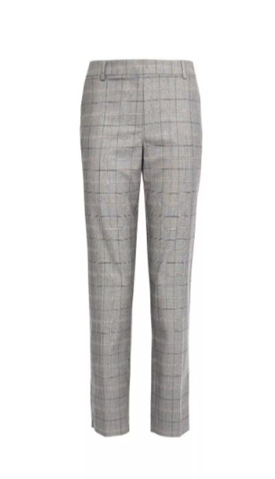 DP Tall Pink and Grey Checked Ankle Grazer Trousers