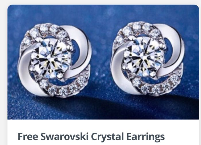 FREE EARRINGS Charisma Earrings Made with Swarovski Elements Worth £40
