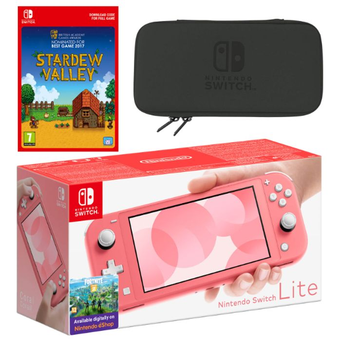 Nintendo Switch Lite (Coral) Stardew Valley - Only £210.99!