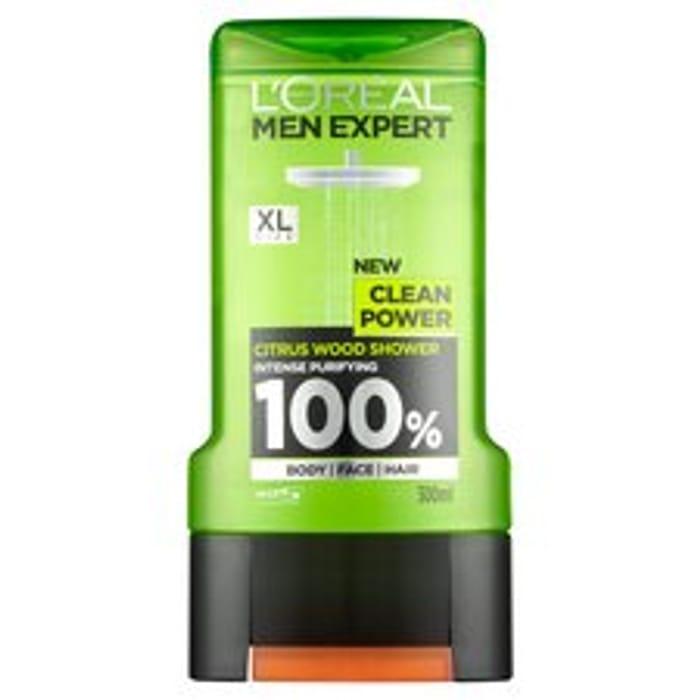 LOreal Men Expert Clean Power Shower Gel 300ml