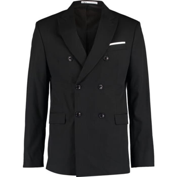 ZARA Black Double Breasted Blazer