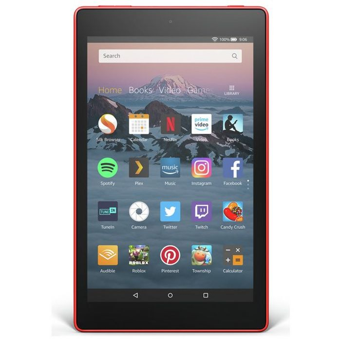 Amazon Fire HD 8 Alexa 8 Inch 16GB Tablet - Punch Red or marine blue