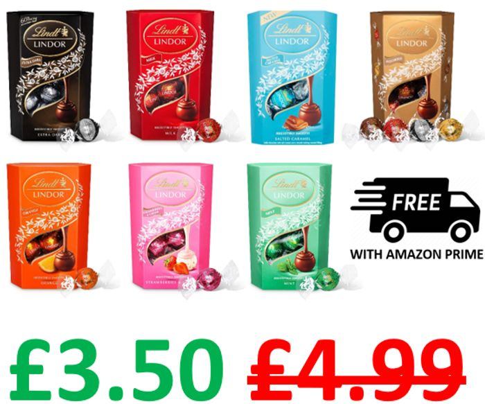 AMAZON #1 Best Seller - Lindt Lindor Chocolate Truffles Box, FREE PRIME DELIVERY