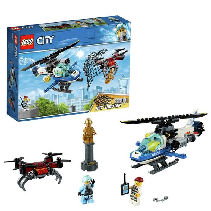 LEGO City Sky Police Drone Chase Toy Helicopter