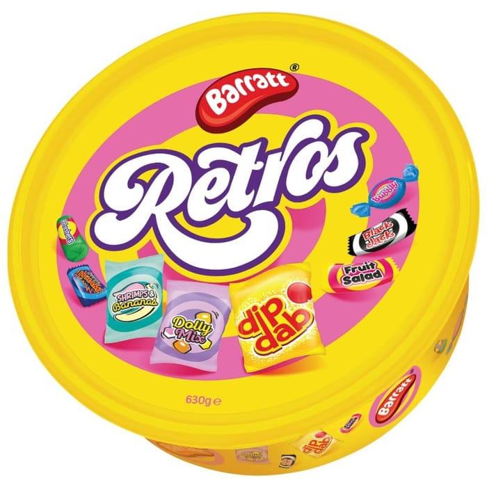 Cheap Barratt's Retro Sweets Tub 630g Only £3!