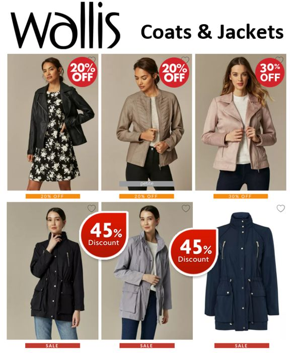 Coats & Jackets - up to 45% off at WALLIS