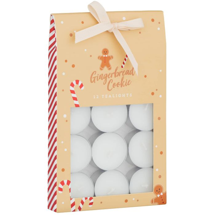 Gingerbread Cookie 12pk Scented Tealights