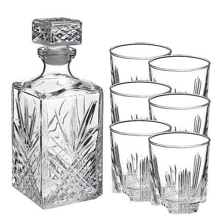 7 Piece Whiskey Decanter Set FREE DEL.