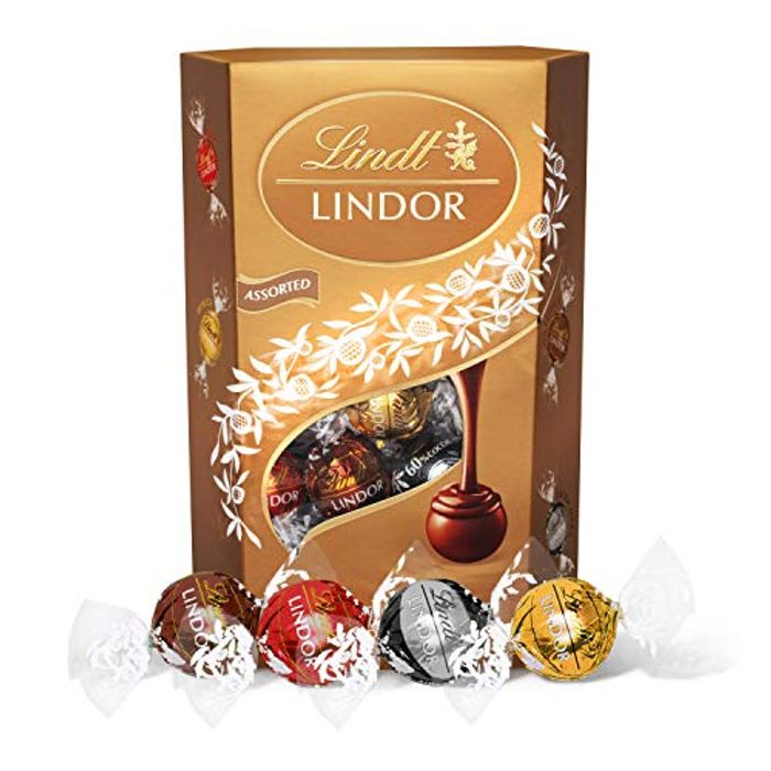 Lindt Lindor Assorted Chocolate Truffles Box - Approx. 26 Balls, 337 G