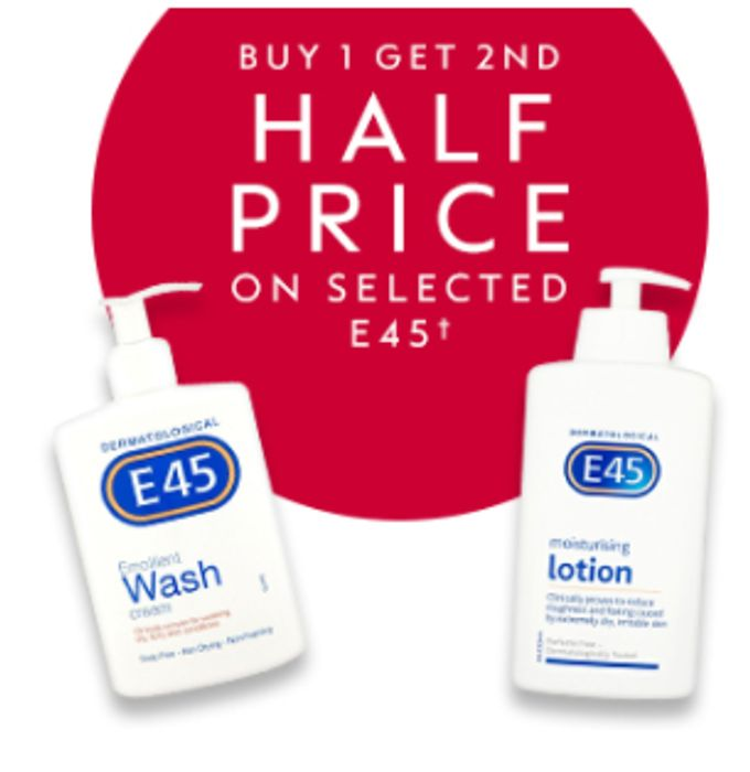 Buy 1 Get 2nd 1/2 Price on Selected E45