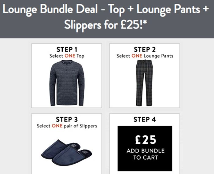 Lounge Bundle Deal - Top + Lounge Pants + Slippers for £25