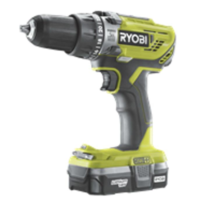 Ryobi ONE+ 18V Combi Drill Kit 1x1.3ah R18PD3-113G