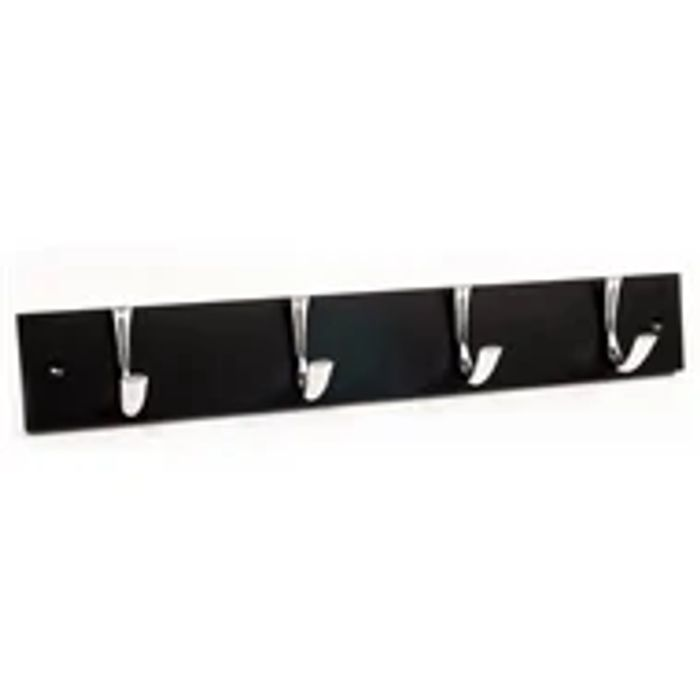 Black Coat Hook - 4 Hooks