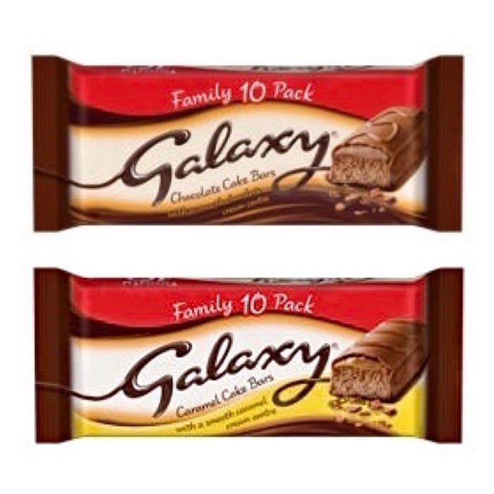 CHEAP! Galaxy / Galaxy Caramel Cake Bars Family Pack - 10 Bars