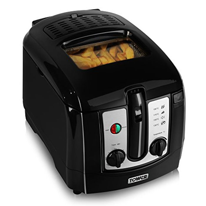 Tower 3L Deep Fat Fryer, Easy Clean, 30 Min Safety Timer, 2300W, Black