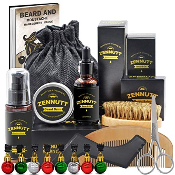 Beard Care Kit for Men w/Free Beard Shampoo