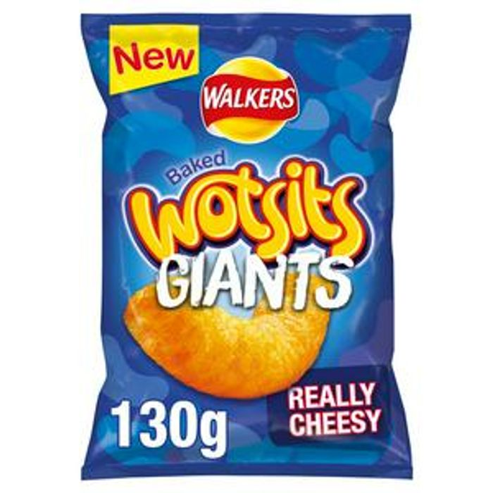 Walkers Wotsits GIANTS Really Cheesy Snacks 130g