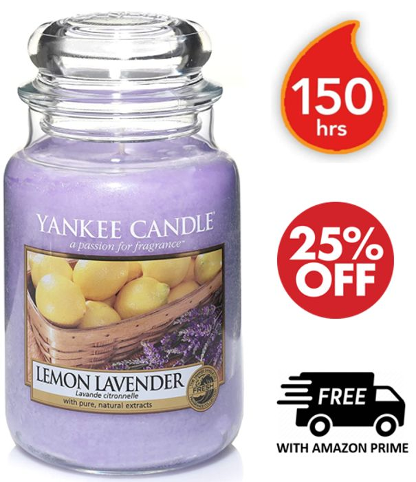 YANKEE CANDLE - Yankee Candle Scented Large Jar | LEMON LAVENDER