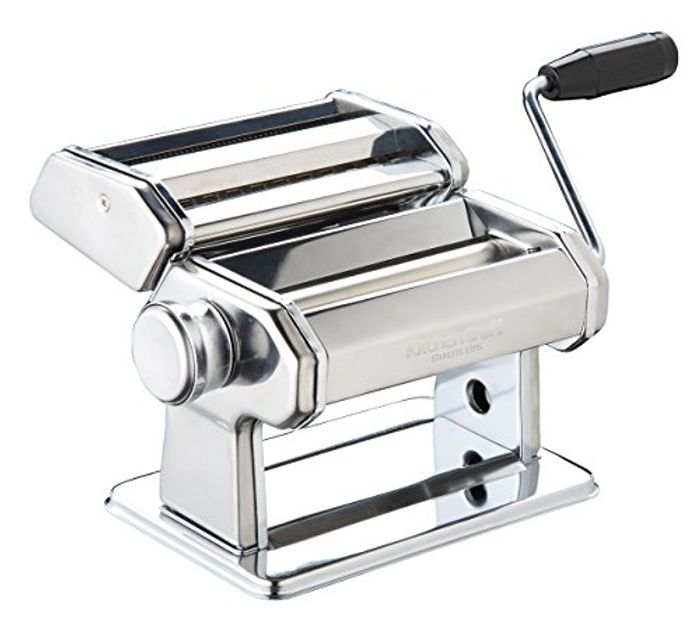 KitchenCraft World of Flavours Pasta Machine, Stainless Steel