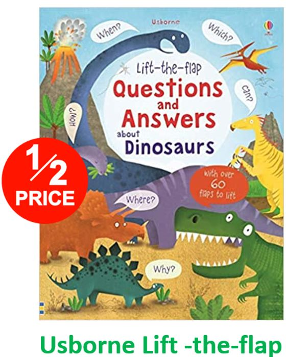 Usborne Lift-the-Flap - Questions and Answers about DINOSAURS