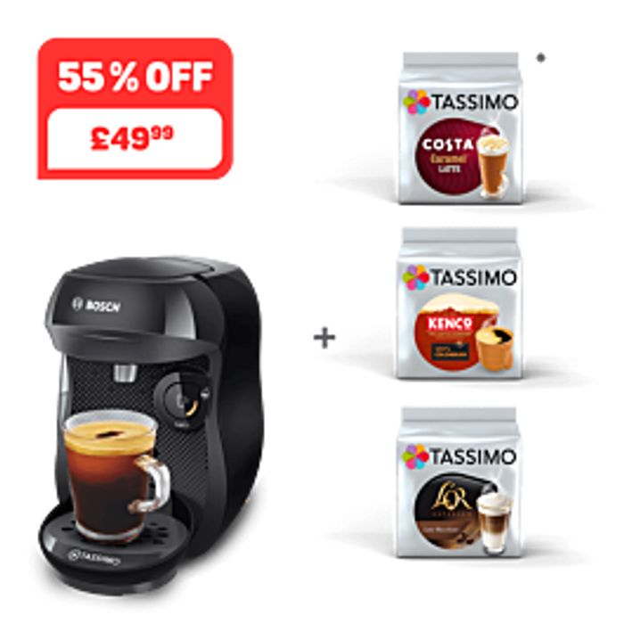 For Coffee Lovers!! Happy - Black + 3 Packs