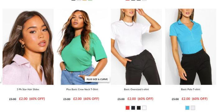 RIGHT NOW BOOHOO SALE!! from 1 Pound
