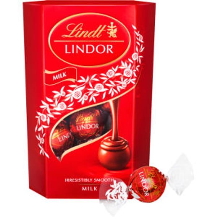 Lindt Lindor Milk Chocolate Carton