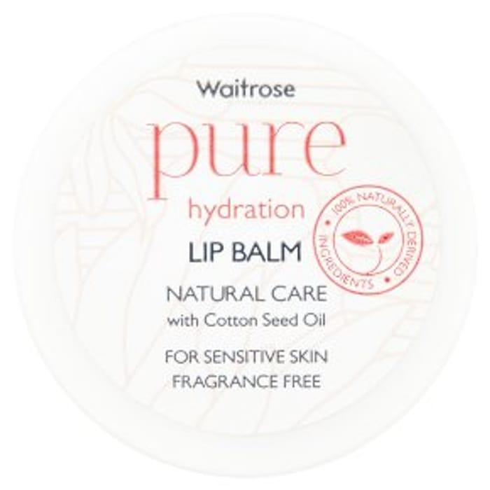 Half Price Waitrose Pure Hydration Lip Balm 15g