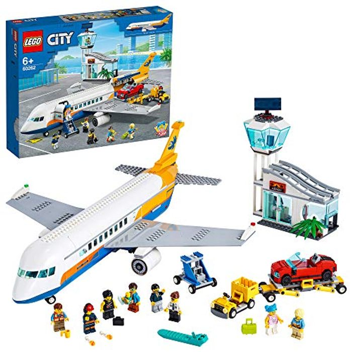 LEGO 60262 City Airport Passenger Airplane, Terminal & Truck Play Set