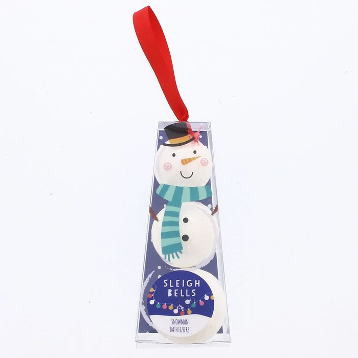 Sleigh Bells Snowman Bath Fizzers (Case of 12)  GREAT STOCKING FILLERS!!