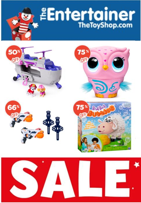 The Entertainer TOY SALE - up to 75% OFF