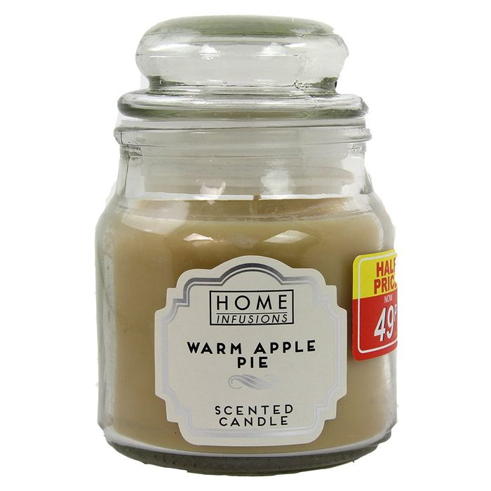 3OZ JAR CANDLE - WARM APPLE PIE  6 Fragrances to Pick From
