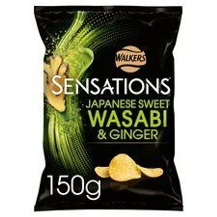 2 X Sensations Wasabi & Ginger Crisps 150g Large Bags
