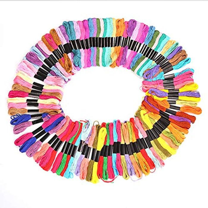 100 Colour Embroidery Cotton Threads