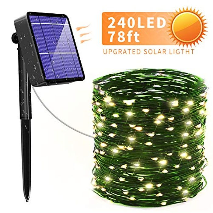 Solar Outdoor Fairy LED Lights 24m 240 LED