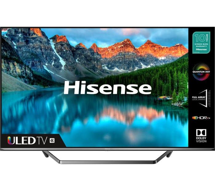 HISENSE 50U7QFTUK 50 Smart 4K Ultra HD HDR QLED TV with Amazon Alexa