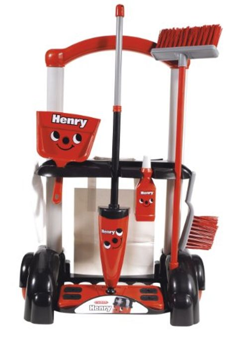 Henry Cleaning Trolley, Red
