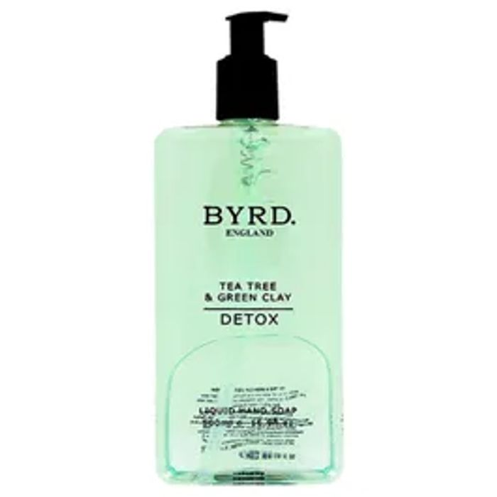 Byrd Tea Tree and Green Clay Handwash 500ml, Half Price Poundshop