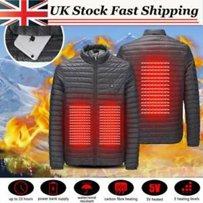 Best Price! Electric Thermal USB Padded Coat Body Heated Hoodie Jacket