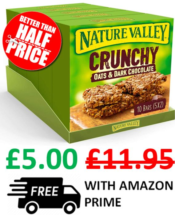 Nature Valley Oat & Chocolate 50 Bars / 25 Packets