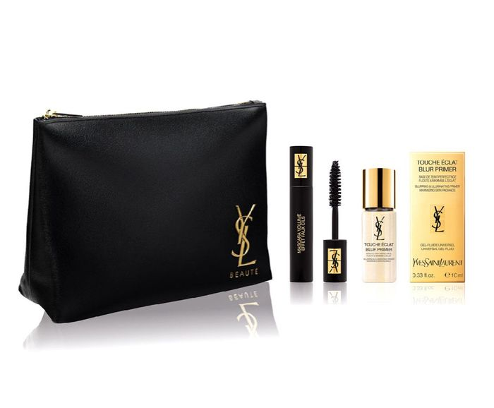 Free YSL Pouch with Primer & Mascara Mini WhenBuy Selected YSL Libre Fragrances