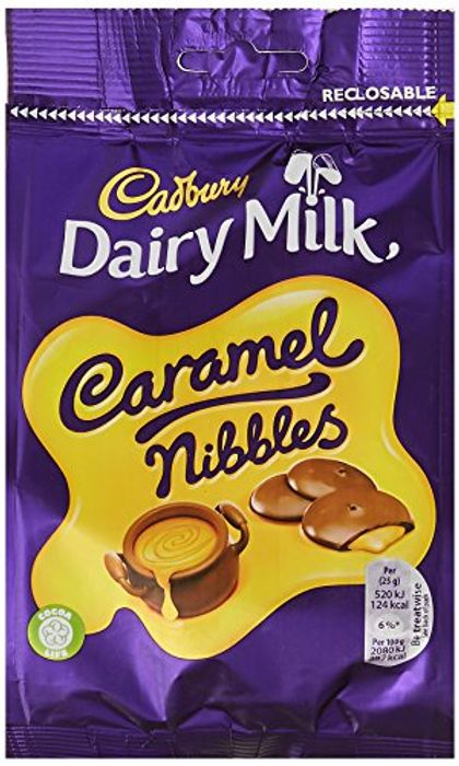 (Pre-Order) Cadbury Dairy Milk Caramel Nibbles Chocolate Bag, 120 G