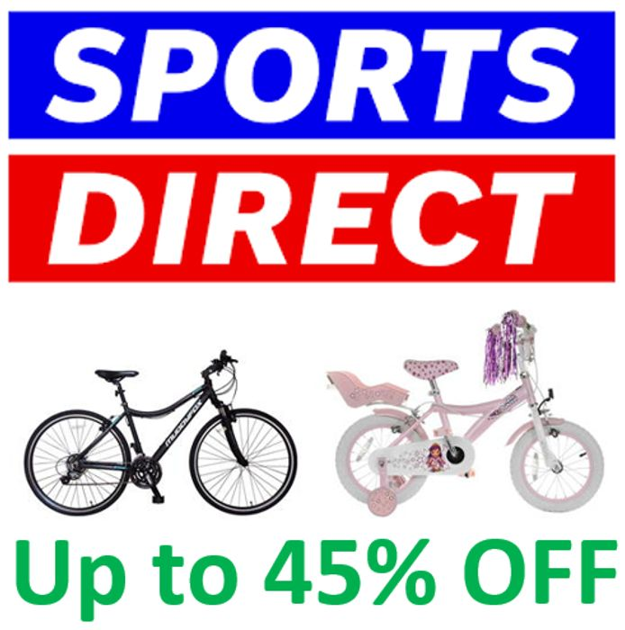 Up to 45% off MUDDY FOX & COSMIC BIKES at Sports Direct