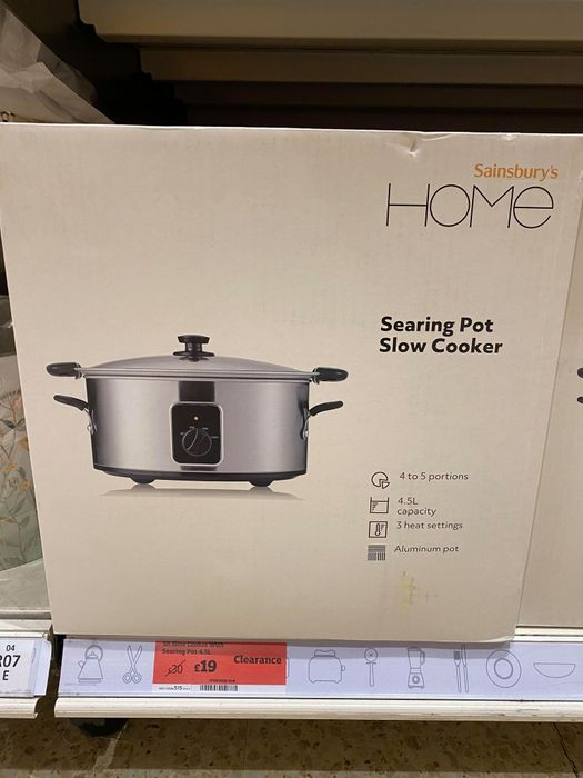 Slow Cooker with Searing Pot 4.5L