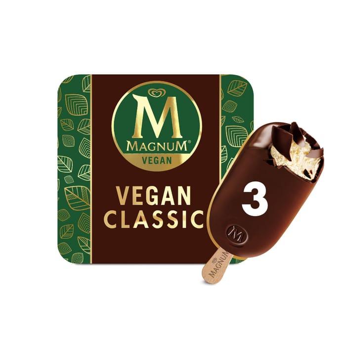Cheap Magnum Vegan Classic Ice Cream 3x90ml at Sainsbury's