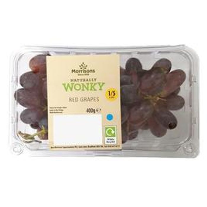 Morrisons Red Wonky Grapes 400g