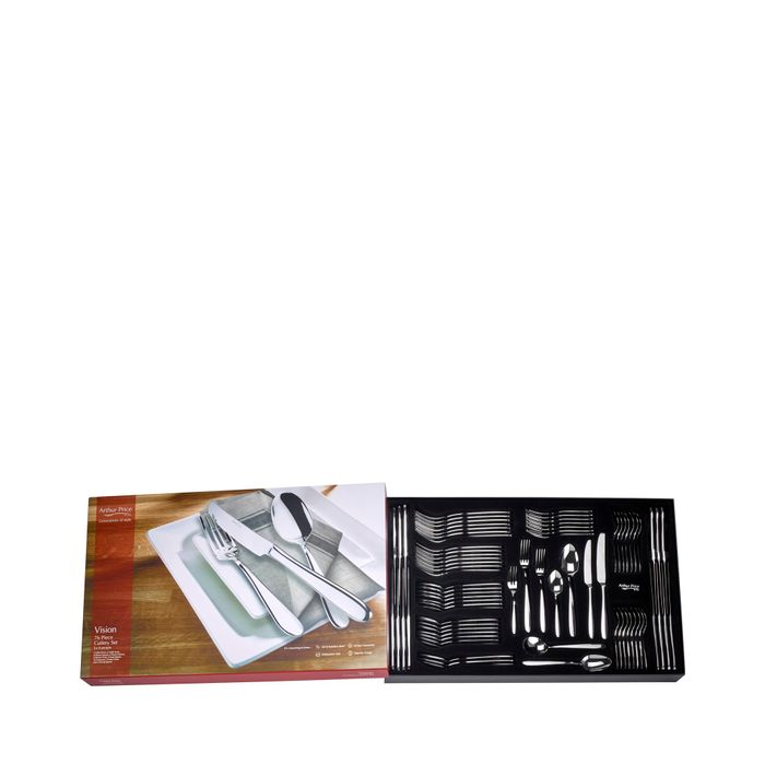 Arthur Price - 'Vision' Stainless Steel 76 Piece 8 Person Boxed Cutlery Set
