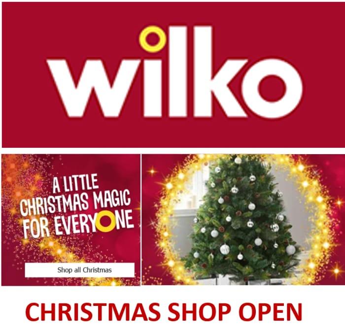 WILKO CHRISTMAS SHOP - Now Open!