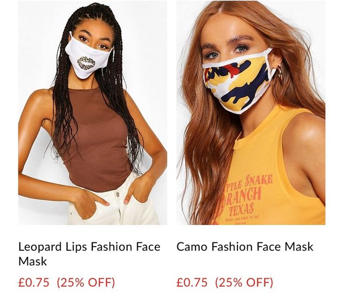 Face Masks from 75p + 1£ delivery
