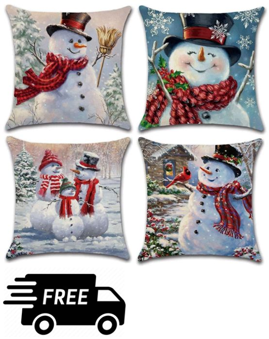 4 Christmas Cushion Covers - ONLY £6.02 (& Other Designs)